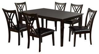 Springhill Enticing 7 Piece Dining Table Set, Espresso
