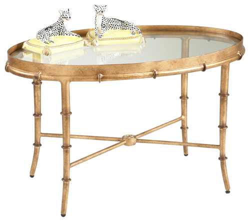 Chelsea House 10-0162 Antique Gold Bamboo Cocktail Table 380040