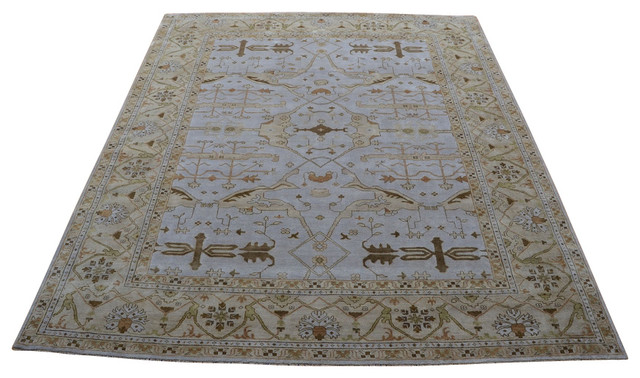 Oriental Rug Galaxy 12x14 Hand Knotted Light Blue Oushak