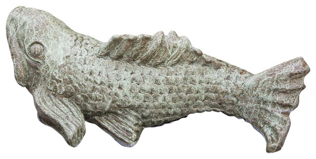 Campania Swimming Fish Cast Stone Animal Statue Garden Art