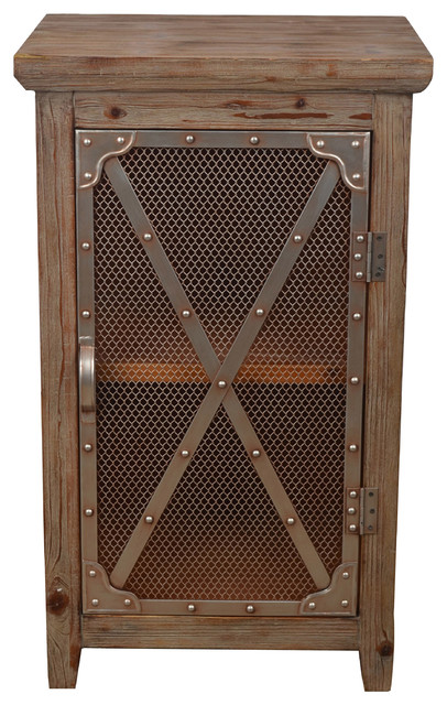 Chicken Wire Cabinet Industrial Accent Chests And