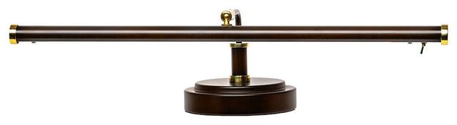 """19"""" LED Piano Lamp, Mahogany Bronze"""