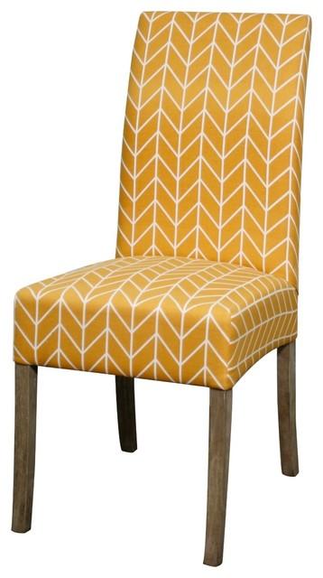 Valencia Fabric Chair W Mystique Gray Legs Wheat Yellow Set Of 2 Contempo