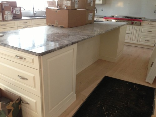 Granite support underneath island for Granite countertop overhang support requirements