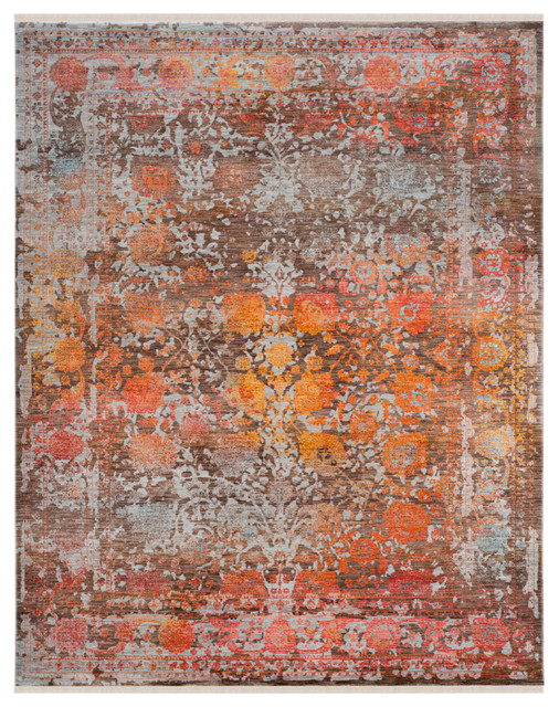 Safavieh Vintage Persian Rug, Brown/multi, 8&x27;x10&x27;.