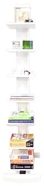 Hancock Tower Spine Book Shelf, White.