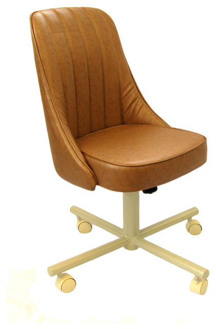 Caster Chair Company   Casual Rolling Caster Dining Chair With Swivel Tilt  in Oak Wood Swivel Dining Room Chairs   Houzz. Powell Hamilton Swivel Tilt Dining Chair On Casters. Home Design Ideas