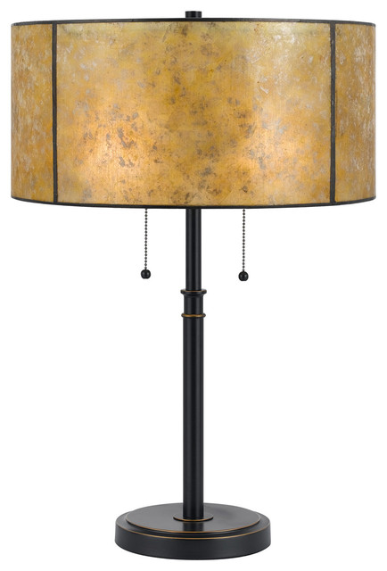 Mica 2-Light Table Lamps, Dark Bronze.