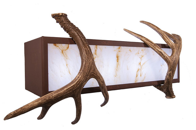 Rustic Bathroom Vanity Lighting vanity - antler - 4 light - rustic - bathroom vanity lighting -
