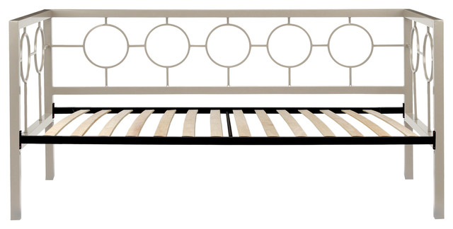 Astoria Complete Daybed Circle Design Panels Euro Top Deck Champagne, Twin.