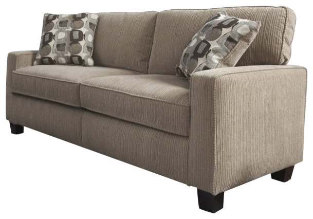 Marvelous Serta Santa Cruz Sofa In Platinum Fabric Transitional Sofas