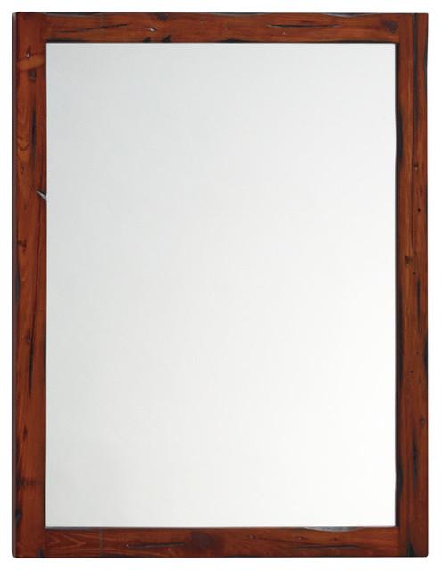 Wood Framed Bathroom Mirrors ronbow contemporary solid wood framed bathroom mirror, rustic pine