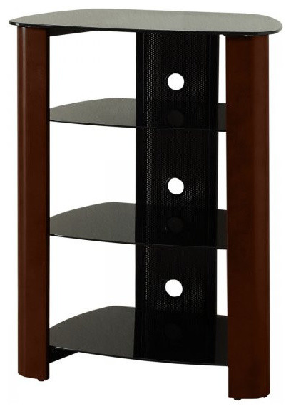 "Component Stand, Black, Espresso, 35""H x 26""W x 20""D - Entertainment ..."