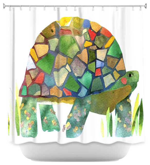 Shower Curtain Unique from DiaNoche Designs - Turtle contemporary-shower- curtains - Shower Curtain Unique From DiaNoche Designs - Turtle
