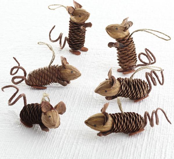 Winter Pinecone Friends, Mice