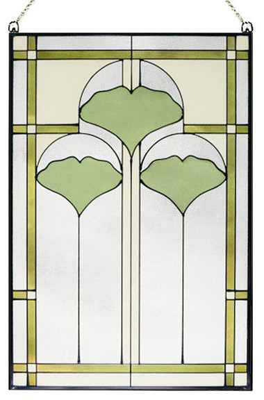Arts And Crafts Ginkgo Stained Glass Panel Craftsman