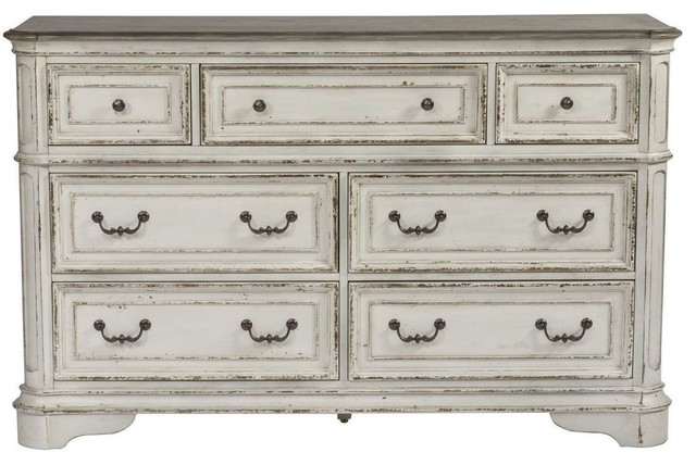 Liberty Magnolia Manor 7 Drawer Dresser In Antique White.
