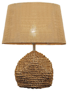 rope table lamp beach style table lamps by natural. Black Bedroom Furniture Sets. Home Design Ideas