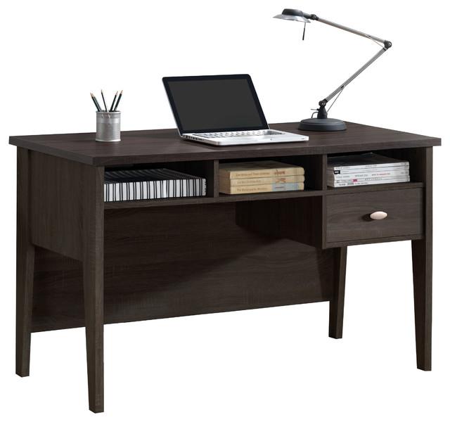 Corliving Folio Black Espresso Single Drawer Desk.