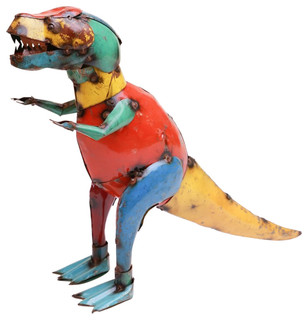 Recycled Metal Dinosaur T-Rex-Small - Contemporary ...