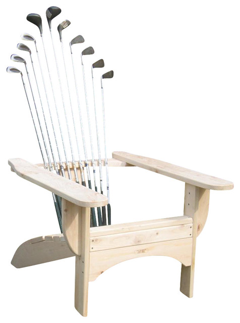 Golfclub Adirondack Chair In Blond Finish Contemporary Adirondack Chairs