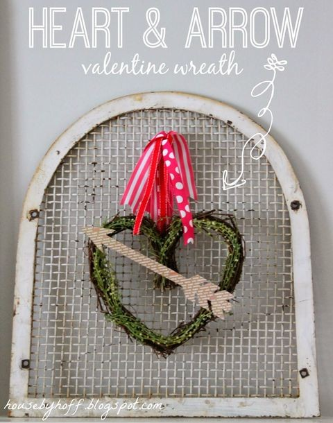 27 Awesome DIY Valentine's Day Wreaths