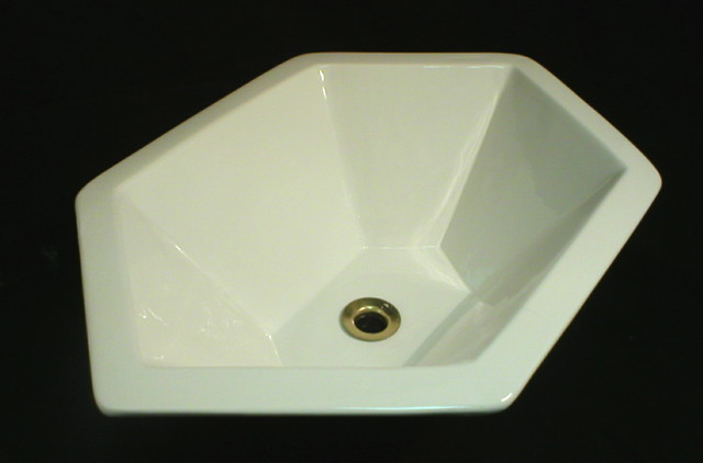 hexagon bathroom sink custom hexagon sink in white modern bathroom sinks 13110