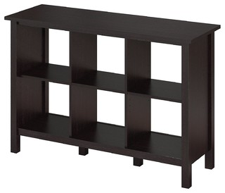 Broadview 6 Cube Storage Bookcase, Espresso Oak