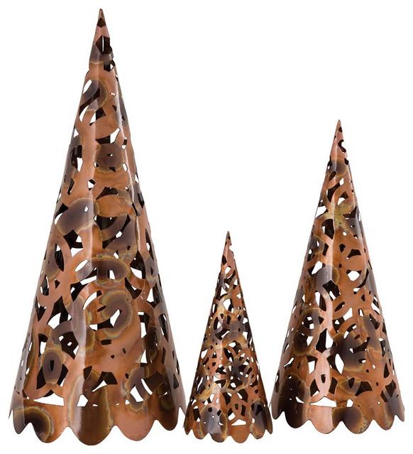 Elk Novell Set Of 3 Trees 200991, Burned Copper