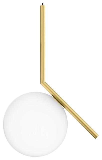Flos IC Single Pendant Light, Brass