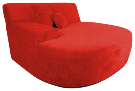 Decenni Ampio Lounge Chair Sofa, Red.