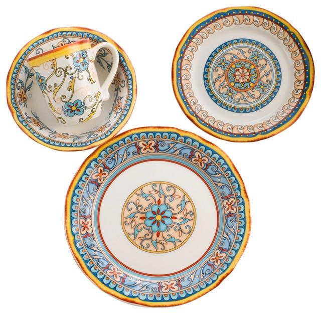 duomo dinnerware 16 piece set - Modern Dinnerware