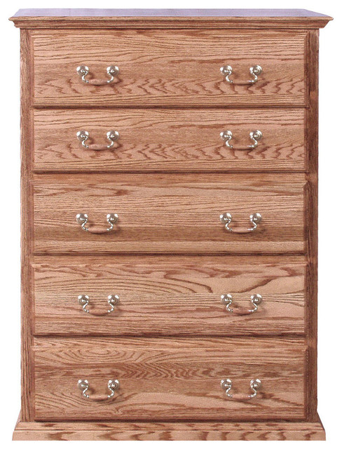 Traditional Golden 5-Drawer Chest.