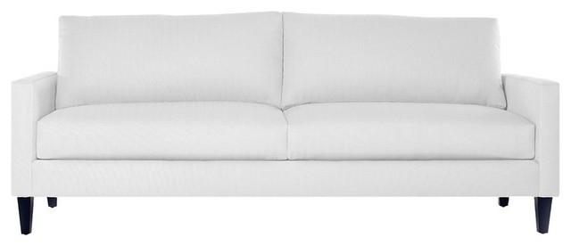 Clark Apartment Size Sofa, Pure White, 78