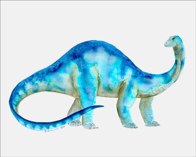 Dinosaur Portrait, Brachiosaurus, Canvas Wall Art, 14x10 ...