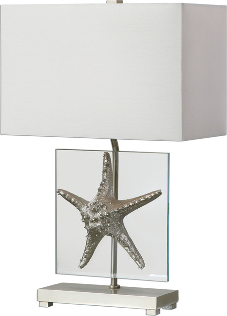 Silver Starfish Table Lamp   Beach Style   Table Lamps   By HedgeApple