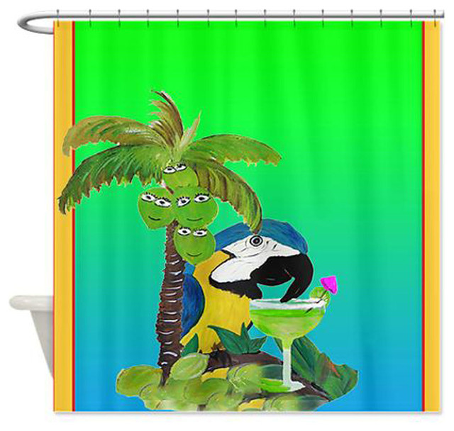 Mary Gifts By The Beach - Parrot Margarita Shower Curtain ...