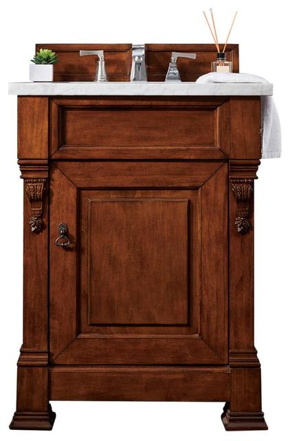 "Brookfield 26"" Single Cabinet, Warm Cherry."