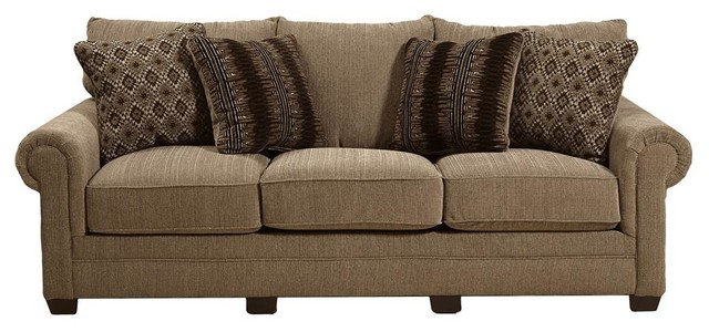 Upholstered Sofa, Fawn.
