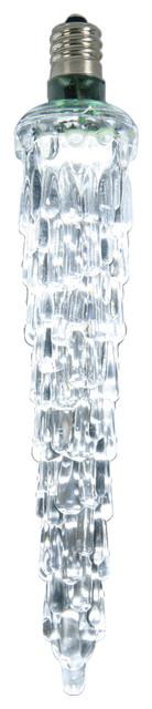 "5"" Led Falling Icicle Clear Lights Bulb E12, Cool White."