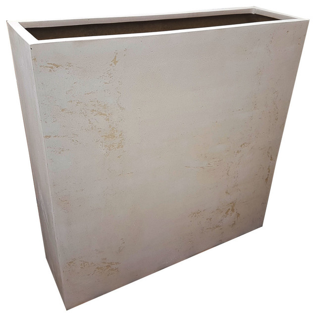 Off-White Barrier Polystone Planter