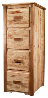 Handcrafted File Cabinet - Rustic - Filing Cabinets - by ShopLadder