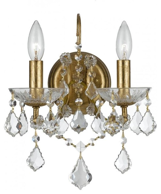 Filmore Two Light Antique Gold Wall