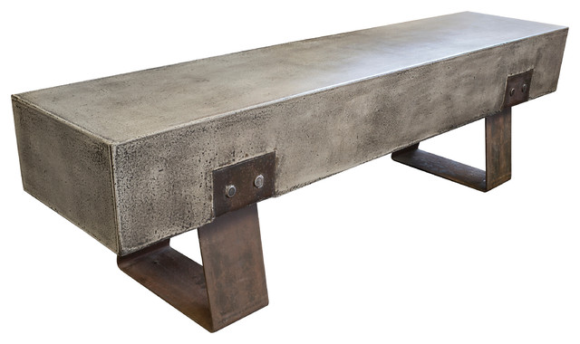 Good Vault Steel And Cement Bench Industrial Dining Benches