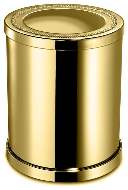 W Luxury Shinelight Bathroom Wastebasket Without Cover With Swarovski Crystals Wastebaskets