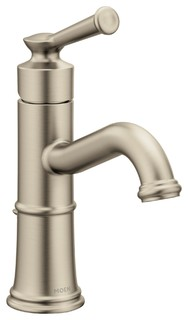 Moen Belfield 1-Handle High Arc Bathroom Faucet, Brushed Nickel