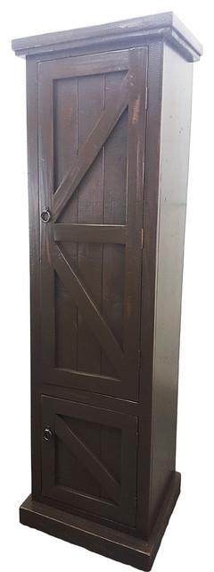 Rustic Single Door Armoire In Rustic Antique Black Rustic Armoires And  Wardrobes