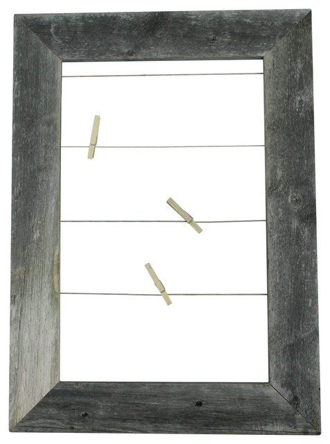 Clothespin Picture Frame Photo Display - Rustic - Picture Frames ...