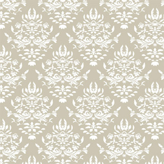 Chic Shelf Paper Greige Damask Shelf Paper Drawer Liner - Drawer & Shelf Liners | Houzz