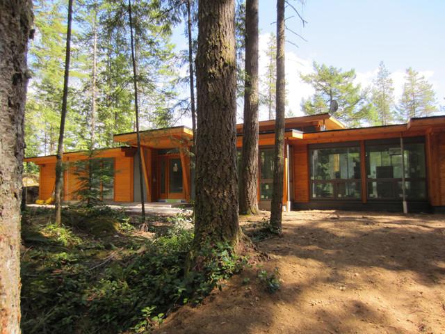 Gambier Island Custom West Coast Home - Contemporary - Exterior ...